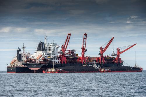 Угольный морской порт Шахтёрск впервые отгрузил юбилейные 10 млн тонн угля